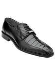 Belvedere Black Gennaro Genuine Crocodile and Italian Calf Leather Shoes 1486 - Fall 2015 Collection Shoes | Sam's Tailoring Fine Men's Clothing