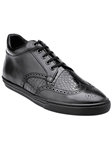 Belvedere Black Adriano Genuine Alligator And Soft Antique Italian Calf Leather Casual Sneakers M25 - Fall 2015 Collection Shoes | Sam's Tailoring Fine Men's Clothing