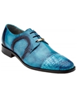 Belvedere Antique Hawaian Blue Suprimo Hand Painted Genuine Crocodile and Italian Calf Shoes 1113 - Fall 2015 Collection Dress Shoes | Sam's Tailoring Fine Men's Clothing