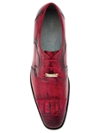 Belvedere Antique Red Suprimo Hand Painted Genuine Crocodile and Italian Calf Shoes 1113 - Fall 2015 Collection | Sam's Tailoring Fine Men's Clothing