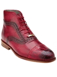 Belvedere Antique Red Tobia Hand Painted Genuine Ostrich and Italian Calf Shoes 904 - Fall 2015 Collection | Sam's Tailoring Fine Men's Clothing