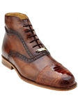 Belvedere Antique Saddle Tobia Hand Painted Genuine Ostrich and Italian Calf Shoes 904 - Fall 2015 Collection | Sam's Tailoring Fine Men's Clothing