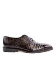 Belvedere Brown Onesto II Genuine Ostrich and Crocodile Combination Leather Shoes 1419 - Fall 2015 Collection Shoes | Sam's Tailoring Fine Men's Clothing