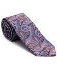 Robert Talbott Purple with Paisley Design Stillwater Cove Estate Tie 43850I0-06 - Fall 2015 Collection Estate Ties | Sam's Tailoring Fine Men's Clothing