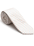 Robert Talbott White with Geometric Design Stillwater Cove Estate Tie 43853I0-01 - Fall 2015 Collection Estate Ties | Sam's Tailoring Fine Men's Clothing