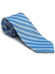 Robert Talbott Blue and White Stripes Post Ranch Estate Tie 43857I0-02 - Fall 2015 Collection Estate Ties | Sam's Tailoring Fine Men's Clothing