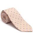 Robert Talbott Orange and White with Dots Peninsula Estate Tie 43858I0-02 - Fall 2015 Collection Estate Ties | Sam's Tailoring Fine Men's Clothing