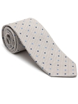 Robert Talbott Brown and White with Dots Peninsula Estate Tie 43858I0-03 - Fall 2015 Collection Estate Ties | Sam's Tailoring Fine Men's Clothing