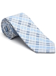 Robert Talbott Sky with Check Design Peninsula Estate Tie 43860I0-01 - Fall 2015 Collection Estate Ties | Sam's Tailoring Fine Men's Clothing