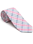 Robert Talbott Pink with Check Design Peninsula Estate Tie 43860I0-02 - Fall 2015 Collection Estate Ties | Sam's Tailoring Fine Men's Clothing