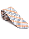 Robert Talbott Orange with Check Design Peninsula Estate Tie 43860I0-03 - Fall 2015 Collection Estate Ties | Sam's Tailoring Fine Men's Clothing