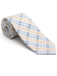 Robert Talbott Taupe with Check Design Peninsula Estate Tie 43860I0-04 - Fall 2015 Collection Estate Ties | Sam's Tailoring Fine Men's Clothing