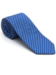 Robert Talbott Blue with Geometric Design Cypress Point Estate Tie 43863I0-10 - Fall 2015 Collection Estate Ties | Sam's Tailoring Fine Men's Clothing