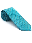Robert Talbott Blue with Geometric Design Silk Beach Club Estate Tie 43693I0-07 - Fall 2015 Collection Estate Ties | Sam's Tailoring Fine Men's Clothing