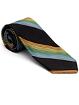 Robert Talbott Black with Yellow Bixby Satin Stripe Estate Tie 43699I0-04 - Fall 2015 Collection Estate Ties | Sam's Tailoring Fine Men's Clothing
