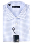 Hart Schaffner Marx Blue and White Check Dress Shirt 5F329504 - Shirts | Sam's Tailoring Fine Men's Clothing