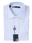 Hart Schaffner Marx Blue and White Multistripe Dress Shirt 5F329528 - Shirts | Sam's Tailoring Fine Men's Clothing