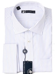 Hart Schaffner Marx Blue and White Multistripe Dress Shirt 5F329532 - Shirts | Sam's Tailoring Fine Men's Clothing