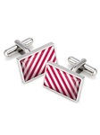 Red & White Inlay Cufflink | M-Clip New Cufflinks Collection 2016 | Sams Tailoring