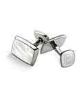 White Mother of Pearl Tapered Rectangle Cufflink | M-Clip New Cufflinks Collection 2016 | Sams Tailoring