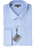 Hart Schaffner Marx Blue Gingham Dress Shirt 1630 - Shirts | Sam's Tailoring Fine Men's Clothing