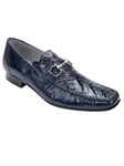 Belvedere Navy Italo Genuine Crocodile and Lizard Leather Shoes 1010 - Fall 2014 Shoe Collection | Sam's Tailoring Fine Men's Clothing