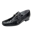 Belvedere Black Italo Genuine Crocodile and Lizard Leather Shoes 1010 - Fall 2014 Shoe Collection | Sam's Tailoring Fine Men's Clothing