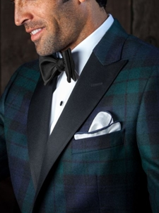 Robert Talbott Custom Suits and Sportcoats: Green and Black Plaid ...