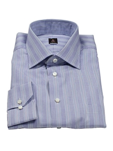 Robert talbott blue bell vertical stripe estate dress for Robert talbott shirts sale