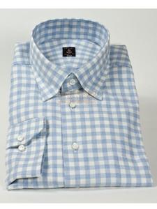 Robert talbott white and sky blue high medium spread under for Robert talbott shirts sale