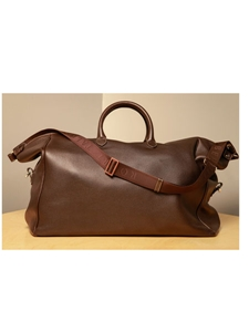 Espresso Long Weekender Leather Bag F3LUG009-01 - Robert Talbott Bags | Sam's Tailoring Fine Men's Clothing