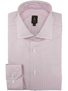 Robert talbott rose check wide spread collar trim rt for Wide spread collar shirt