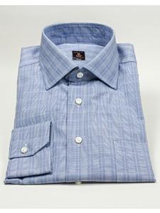 Robert talbott blue glen plaid wide spread collar estate for Robert talbott shirts sale