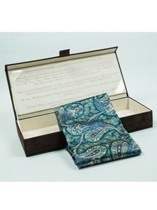 Robert Talbott Pine Green With Floral And Paisley Design