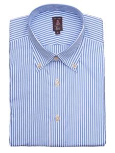 Robert talbott light blue and white stripes medium spread for Robert talbott shirts sale