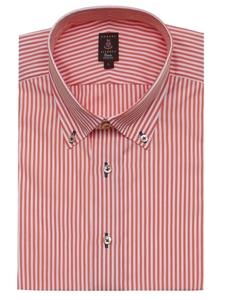 Robert talbott peach pinstripe trim fit estate dress shirt for Robert talbott shirts sale