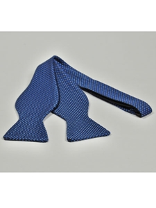 IKE Behar Black Blue with Basket Weave Design Silk Bow Tie SAMSTAILORINGIMG-0042 - Spring 2015 Collection Bow Ties | Sam's Tailoring Fine Men's Clothing