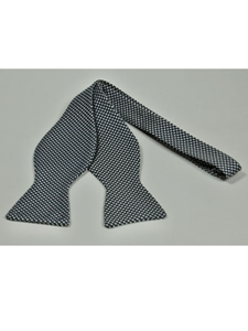 IKE Behar Gray Cream with Basket Weave Design Silk Bow Tie SAMSTAILORINGIMG-0050 - Spring 2015 Collection Bow Ties | Sam's Tailoring Fine Men's Clothing