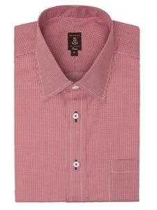 Robert talbott red and white check estate dress shirt for Robert talbott shirts sale