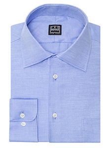 Ike Behar Black Label Regular Fit Solid Dress Shirt Empire Blue 28s0383 422 Spring 2017 Collection