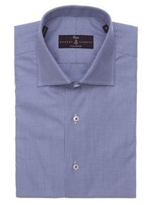 Robert talbott navy tailored fit sutter estate dress shirt for Robert talbott shirts sale