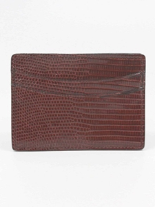 Torino Leather Genuine Lizard Cardcase - Cognac 91502 - Spring Collection 2016 Leather Wallets | Sam's Tailoring Fine  Men's Clothing