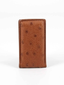 Saddle Genuine Ostrich Magnetic Money Clip Wallet | Torino Leather Wallets Collection 2016 | Sams Tailoring