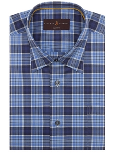 Robert Talbott Blue with Check Design Classic Fit Anderson II Sport Shirt LUM36075-01 - Spring 2016 Collection Sport Shirts | Sam's Tailoring Fine Men's Clothing