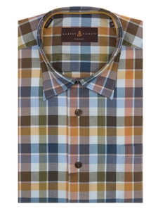 Robert Talbott Multi-Colored with Check Design Classic Fit Anderson II Sport Shirt LUM36023-01 - Spring 2016 Collection Sport Shirts | Sam's Tailoring Fine Men's Clothing
