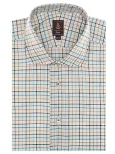 White, Teal, Brown, Navy and Yellow Estate Sutter Dress Shirt | Robert Talbott Fall 2016 Collection  | Sam's Tailoring