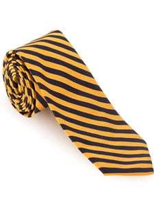 Yellow and Black Stripe Poplin Best of Class Tie | Robert Talbott Fall 2016 Collection  | Sam's Tailoring