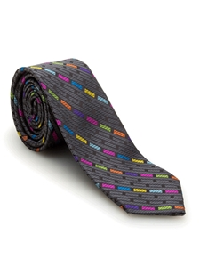 Black Geometric Welch Margetson Best of Class Tie  | Robert Talbott Spring 2017 Collection | Sam's Tailoring