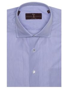 Blue grey summer poplin estate dress shirt robert for Robert talbott shirts sale