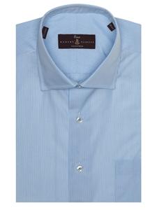 Sky white summer poplin estate dress shirt robert for Robert talbott shirts sale